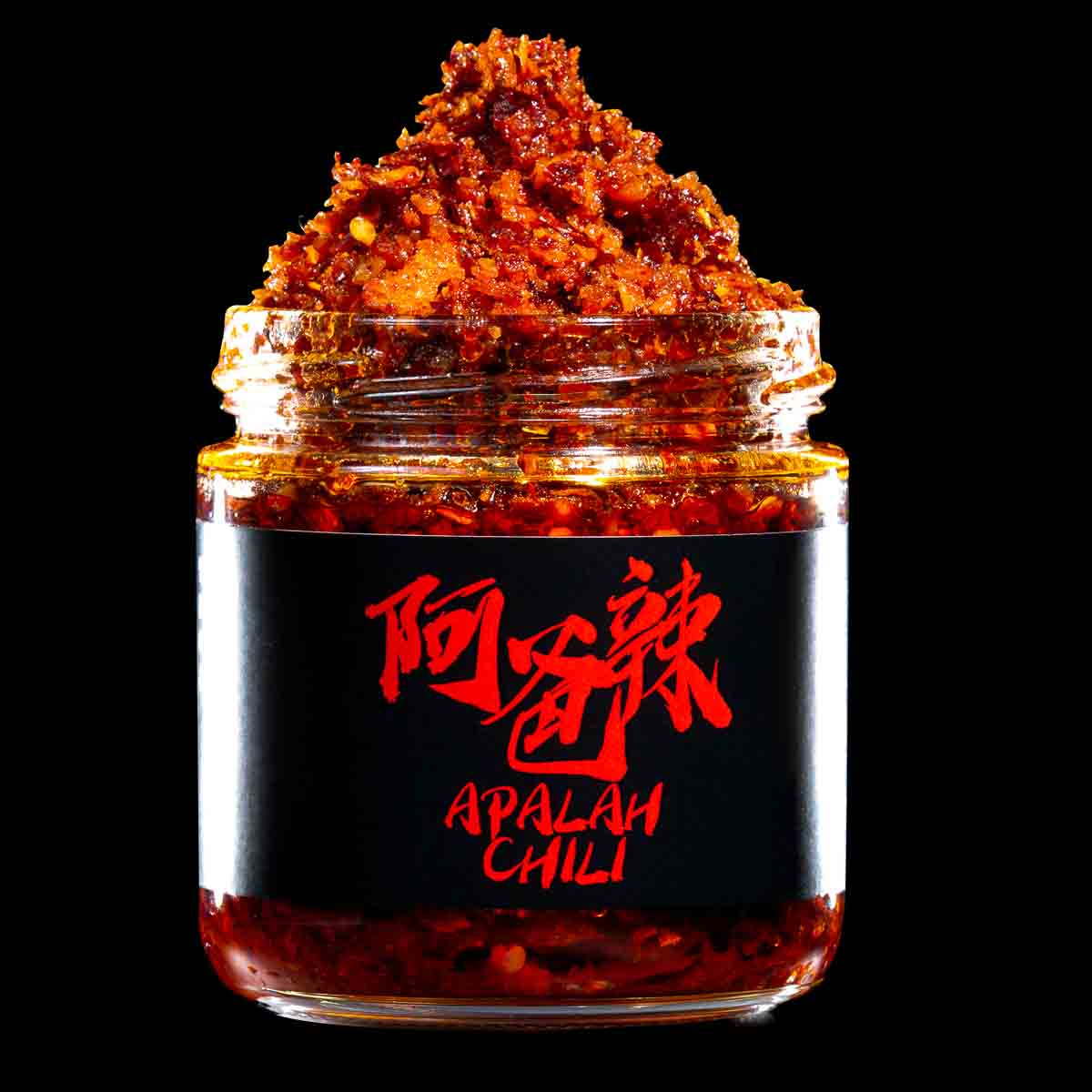 Apalah Chili Bottle Open